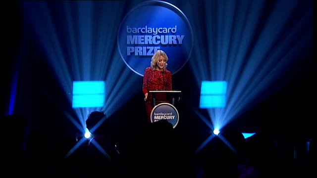 mercury music prize 2011 nominations: announcement and performances; lauren laverne announces final four nominated acts sot - everything everything,... - mercury music prize stock-videos und b-roll-filmmaterial