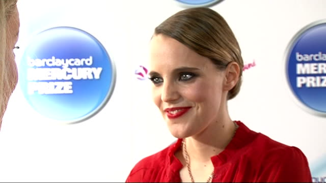 mercury music prize 2011 shortlist announced: interviews with nominees; england: london: the hospital club: int anna calvi backstage interview sot/... - mercury music prize stock-videos und b-roll-filmmaterial