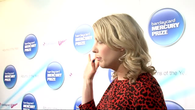 mercury music prize 2011 shortlist announced: interviews with nominees; various of lauren laverne talking to press at backstage photocall gwilym... - mercury music prize stock-videos und b-roll-filmmaterial