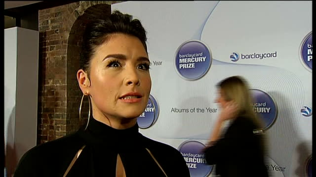 mercury music prize; jessie ware i interview sot - mercury music prize stock-videos und b-roll-filmmaterial