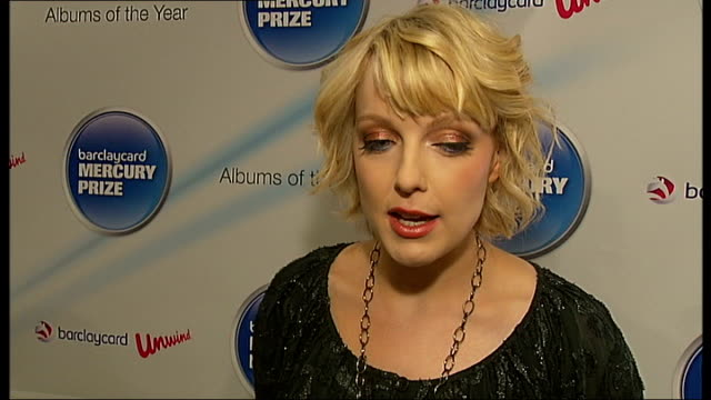 mercury prize 2010 nominations announced; laverne interview sot - thinks nomination list is strong - very varied / paul weller still pushing things... - mercury music prize stock-videos und b-roll-filmmaterial