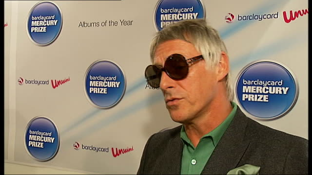 mercury prize 2010 nominations announced; paul weller interview sot - great to be nominated and for the album to get recognition / believes album is... - mercury music prize stock-videos und b-roll-filmmaterial