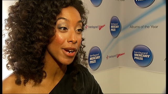 mercury prize 2010 nominations; corinne bailey rae interview sot - mercury music prize stock-videos und b-roll-filmmaterial