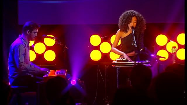 mercury prize 2010 nominations; corinne bailey rae performing song on stage sot - mercury music prize stock-videos und b-roll-filmmaterial