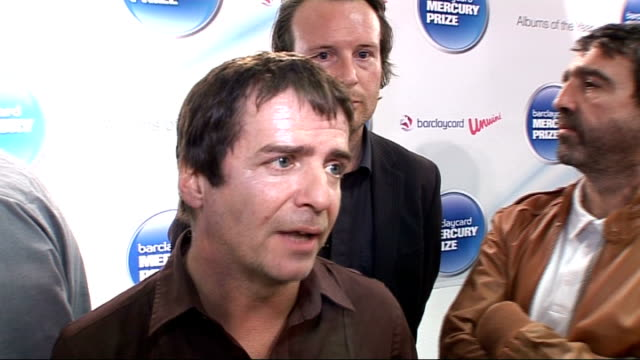 vídeos de stock e filmes b-roll de mercury prize 2010 nominations launch i am kloot interview sot on being nominated / parallels with elbow / their album / touring / paul weller /... - elbow