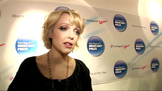 mercury prize 2010 nominations launch; lauren laverne interview sot - on the nominees / i am kloot / likes all of the nomianted records / jubilant... - mercury music prize stock-videos und b-roll-filmmaterial