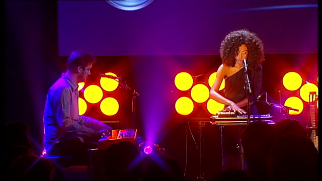 mercury prize 2010 nominations; rae performing song on stage - mercury music prize stock-videos und b-roll-filmmaterial