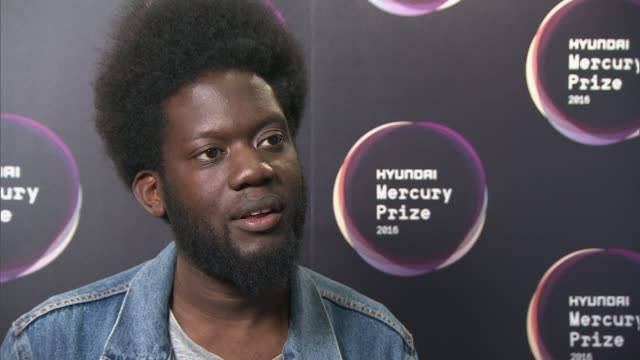 mercury prize 2016 nominations announced; england: london: int michael kiwanuka interview sot - on david bowie being nominated - mercury music prize stock-videos und b-roll-filmmaterial