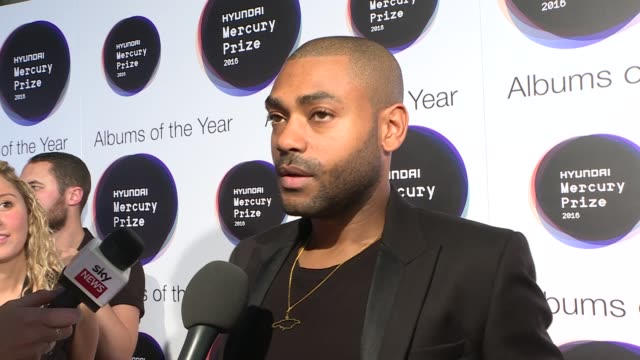 mercury prize 2016: red carpet arrivals and interviews; kano interview sot the comet is coming interview sot - re making music in their shed - mercury music prize stock-videos und b-roll-filmmaterial