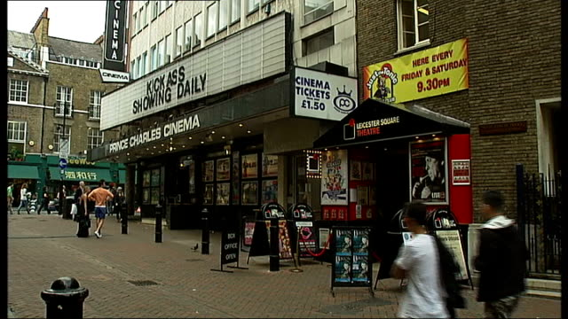 Mike Stock criticises raunchy music videos Stock interview SOT Leicester Square Theatre entrance Poster for 'The GoGoGo Show' pop musical ZOOM IN...