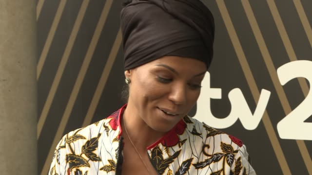 Miss Dynamite given 'Paving the Way' award by MOBO Ms Dynamite speech and posing in front of paving stone SOT / Ms Dynamite photocall with WAC...