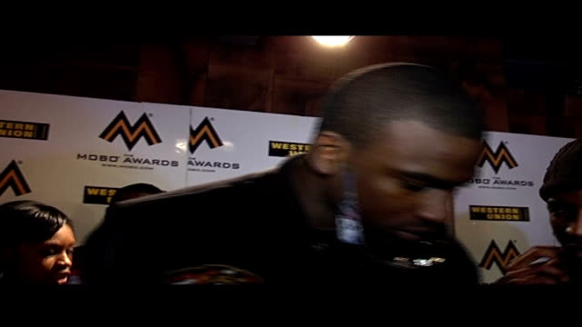 mobo awards 2008: interviews at nominations launch party; skepta and timmy mallet on red carpet / skepta interview sot / skepta and timmy mallet... - timmy mallett stock videos & royalty-free footage