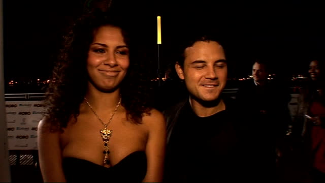 awards 2010: celebrity interviews; holly quin-ankrah and ryan thomas interviewed sot - on how they're glad to get out of their corrie costumes for a... - destiny's child stock-videos und b-roll-filmmaterial