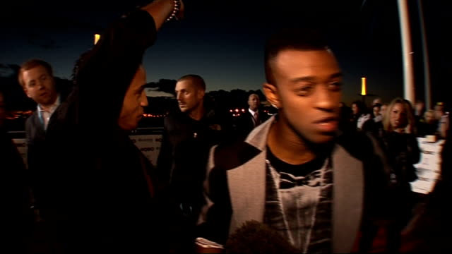 MOBO Awards 2010 celebrity interviews Members of JLS on red carpet / JB and Marvin Humes being interviewed Aston Merrygold and Oritse Williams...
