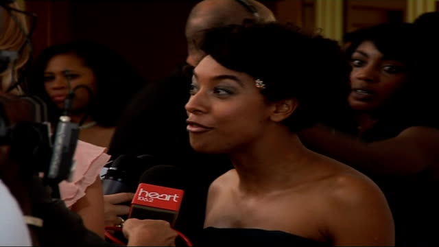 Mobo Awards at Royal Albert Hall Celebrity arrivals and interviews Rihanna being ushered along / Views of Corinne Bailey Rae speaking to press