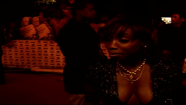 Mobo Awards at Royal Albert Hall Celebrity arrivals and interviews Estelle wearing low cut sparkly black dress interview on red carpet SOT On her new...