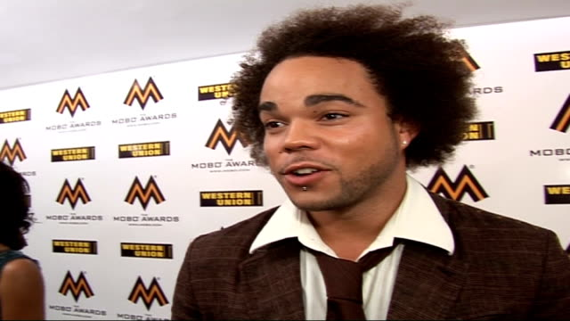 Mobo Awards at Royal Albert Hall Celebrity arrivals and interviews Nate James interview SOT Backstage atmosphere / Entourages / On being linked with...