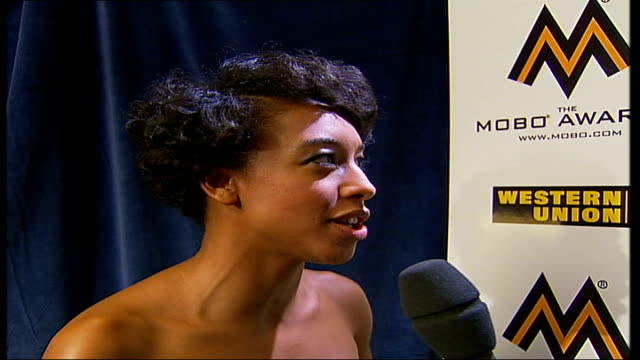 Mobo Awards at Royal Albert Hall Celebrity arrivals and interviews Corinne Bailey Rae interview with ITN reporter in shot SOT On being shocked and...