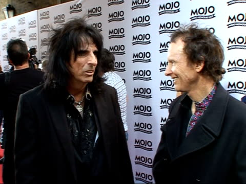 Mojo Awards 2007 ceremony celebrity photocalls / interviews Alice Cooper posing for photocall / Alice Cooper speaking to press / Alice Cooper...