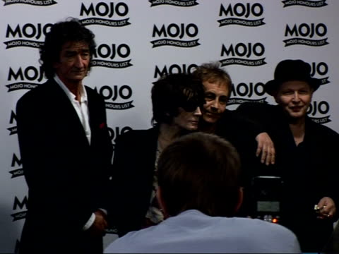 Mojo Awards 2007 ceremony celebrity photocalls / interviews INT Photocalls in winners room members The Only Ones Mike Kellie Peter Perrett Alan Mair...