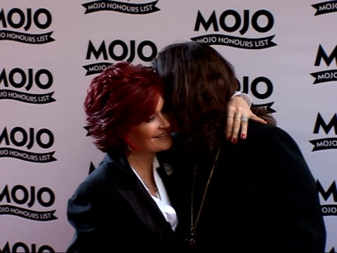 Mojo Awards 2007 ceremony celebrity photocalls / interviews Ozzy Osbourne posing for photocall with his wife Sharon Osbourne / Ozzy and Sharon...