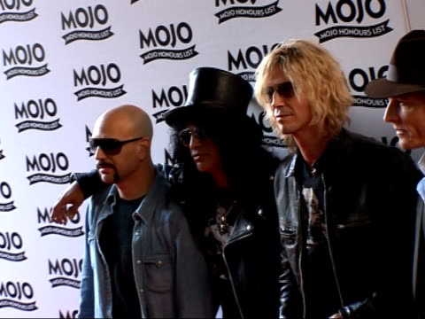Mojo Awards 2007 ceremony celebrity photocalls / interviews Velvet Revolver members David Kushner Slash Duff McKagan and Matt Sorum posing for...