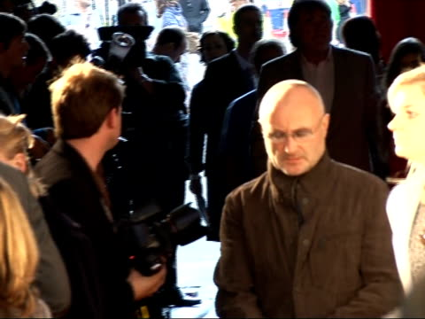 mojo awards 2008 ceremony celebrity photocalls and interviews various of phil collins speaking to reporter - phil collins stock videos & royalty-free footage