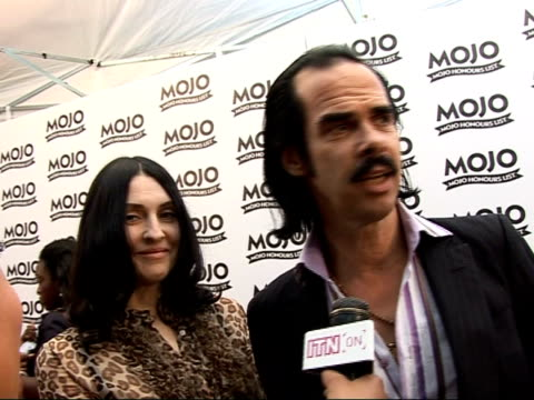mojo awards 2008 ceremony celebrity photocalls and interviews nick cave interview sot on plans for a statue of himself in his hometown of... - hometown stock videos and b-roll footage