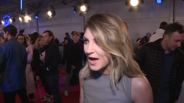 mtv european music awards 2017 in london red carpet arrivals and interviews the vamps interview sot / julia michaels interview sot / anne marie gvs /... - liam payne stock videos and b-roll footage
