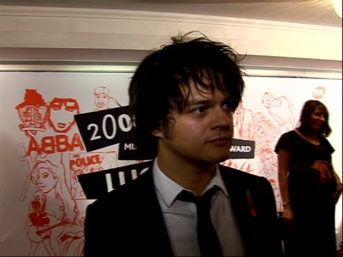 music industry trust awards 2008; james morrison conducting interview with other crew jamie cullum interview sot - on lucian grainge - he believed in... - jamie cullum stock videos & royalty-free footage