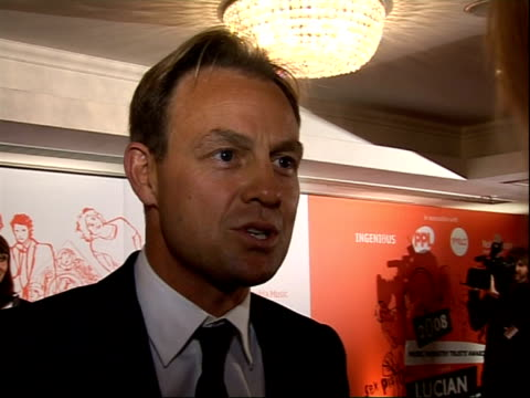 music industry trust awards 2008 jason donovan interview sot on his new record out next week it's a homage to late 50's on his new album on album... - seal singer stock videos and b-roll footage