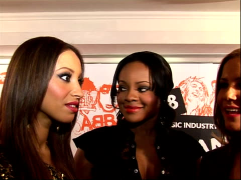 music industry trust awards 2008; sugababes ( interview sot - on lucian grainge - he's guided their career - on doing a collaboration with jamie... - jamie cullum stock videos & royalty-free footage
