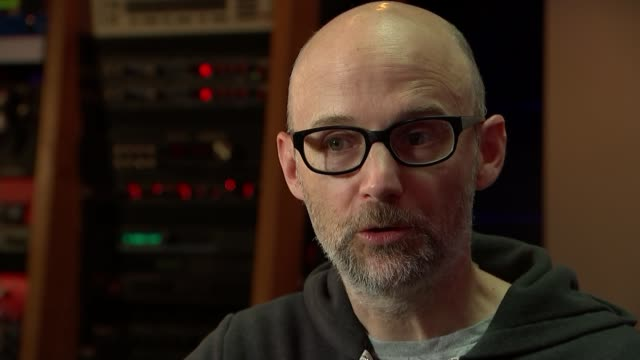 musician, producer and dj moby talks about his life after writing memoir; knob on mixing desk turned moby interview continues sot cutaways reporter... - モービー点の映像素材/bロール
