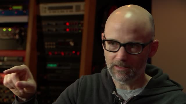 musician, producer and dj moby talks about his life after writing memoir; moby interview continued sot - モービー点の映像素材/bロール