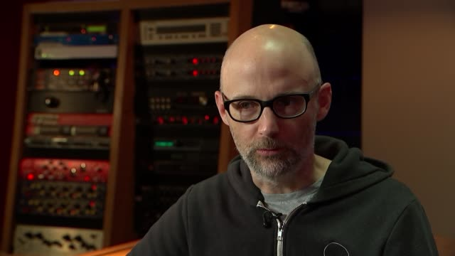 Musician producer and DJ Moby talks about his life after writing memoir ENGLAND London INT Moby interview re his memoirs and his life SOT