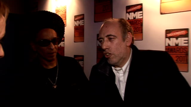 NME awards Mick Jones and Don Letts interview SOT Talks of awards ceremonies and presenting Outstanding Contribution to Music award to PJ Harvey Matt...