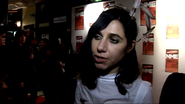 NME awards PJ Harvey interview SOT Talks of her outfit and what she will perform / talks of her career and winning the Outstanding Contribution award
