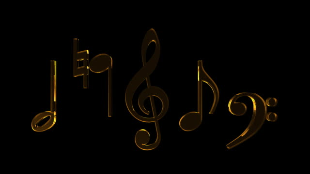 music note #5 hd - treble clef stock videos & royalty-free footage