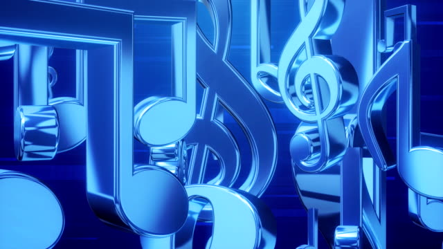 music note roll blue - musical note stock videos & royalty-free footage
