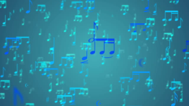 Music Notes Background - Loop