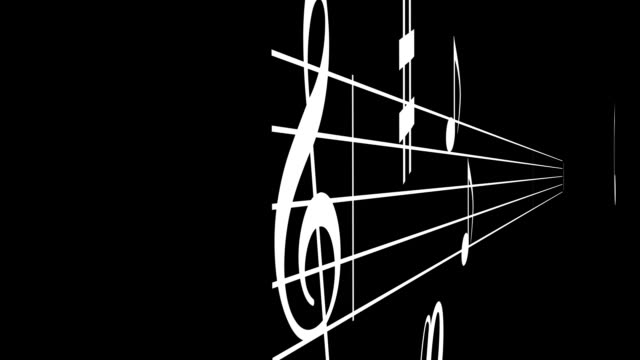 Music Notes Fly through