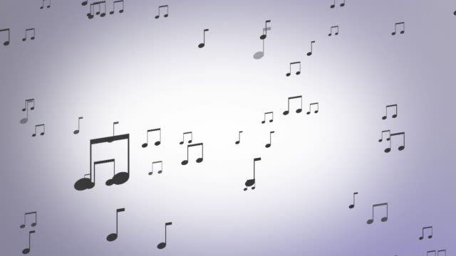 music notes looping background - musical note stock videos & royalty-free footage