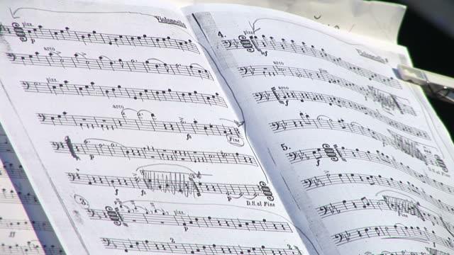 vidéos et rushes de hd : note de musique - partition musicale