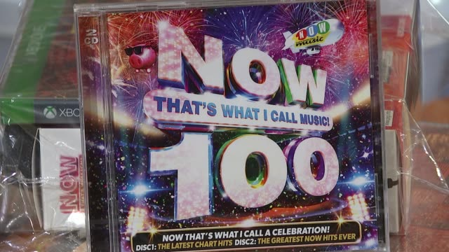 vídeos y material grabado en eventos de stock de 'now that's what i call music' memorabilia england london int various of 'now that's what i call music' compilation cds records dvds and memorabilia - compact disc
