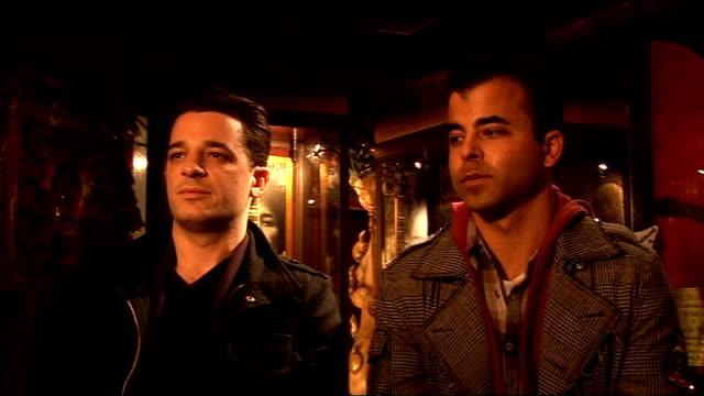 oar interview england london r interview sot talks of their work with the hard rock cafe on the imagine there's no hunger campaign / needed to have... - hard rock cafe stock videos & royalty-free footage