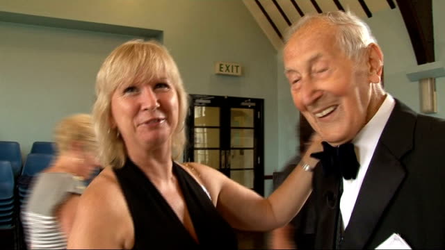 music overlaid salter dancing with partner as she says that she is new sot certificates and badges won by frederick salter including guinness world... - world record stock videos and b-roll footage