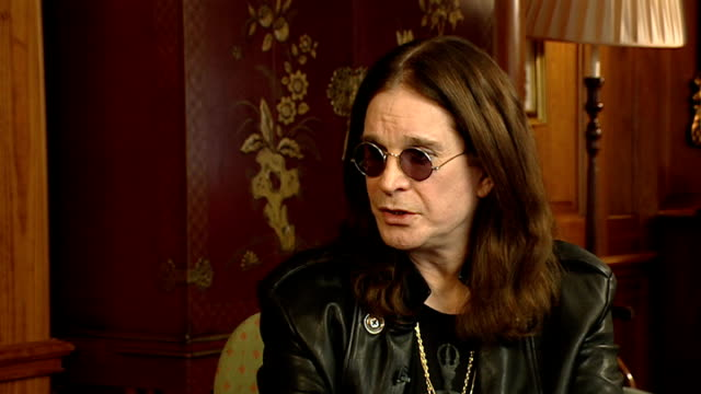ozzy osbourne interview england london int ozzy osbourne interview sot on his new album 'scream' / recording in his own studio / touring and ozzfest... - ozzfest stock videos & royalty-free footage
