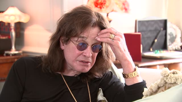 ozzy osbourne interview re winning golden god award england int ozzy osbourne interview re live shows sot - ozzy osbourne stock videos & royalty-free footage