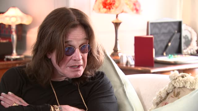ozzy osbourne interview re winning golden god award england int ozzy osbourne interview re his fans lemmy his shows sot - ozzy osbourne stock videos & royalty-free footage