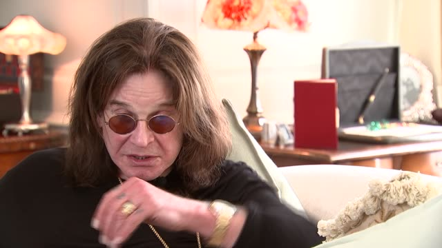 ozzy osbourne interview re winning golden god award england int ozzy osbourne interview re his award performing love of vinyl sot - ozzy osbourne stock videos & royalty-free footage